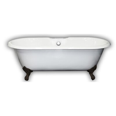 67 x 31 Clawfoot Bathtub Leg Finish: Oil Rubbed Bronze, Faucet Mount: Yes