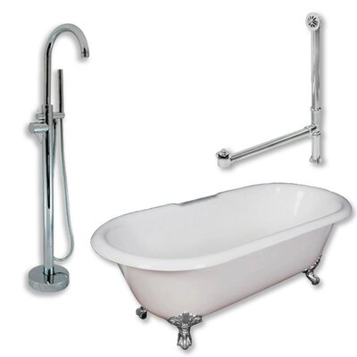 67 x 30 Clawfoot Bathtub Finish: Polished Chrome