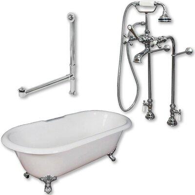 60 x 30 Clawfoot Soaking Bathtub Color: Polished Chrome