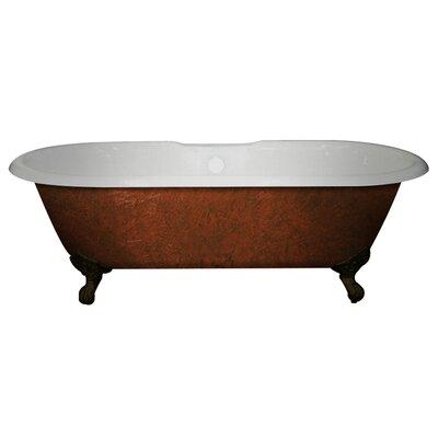 Cast Iron Clawfoot 60 x 30 Freestanding Soaking Bathtub