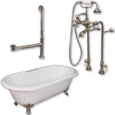 67 x 30 Clawfoot Bathtub Finish: Brushed Nickel