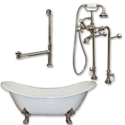 71 x 30 Clawfoot Bathtub Finish: Brushed Nickel