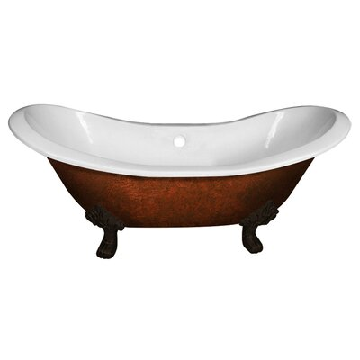 Cast Iron Double Ended Slipper 71 x 30 Freestanding Soaking Bathtub