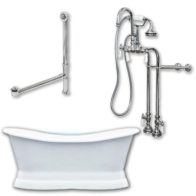 72 x 30 Freestanding Soaking Bathtub Color: Polished Chrome