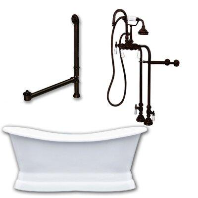 72 x 30 Freestanding Soaking Bathtub Color: Oil Rubbed Bronze