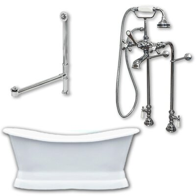 72 x 30 Freestanding Soaking Bathtub Color: Polished Chrome