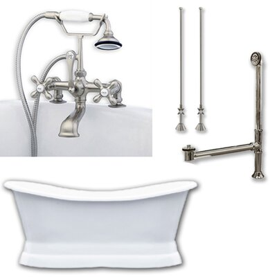 71 x 30 Freestanding Bathtub Finish: Brushed Nickel