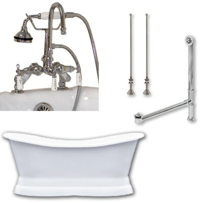 71 x 30 Freestanding Bathtub Finish: Polished Chrome