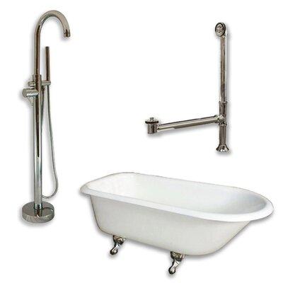 55 x 30 Clawfoot Bathtub Finish: Brushed Nickel