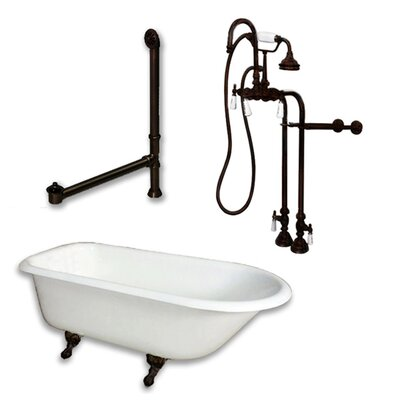 61 x 30 Clawfoot Bathtub Finish: Oil Rubbed Bronze