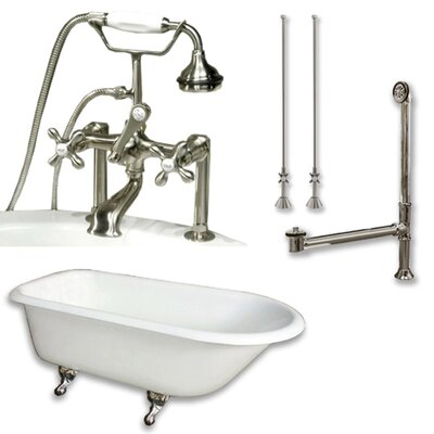61 x 30 Clawfoot Bathtub Finish: Brushed Nickel