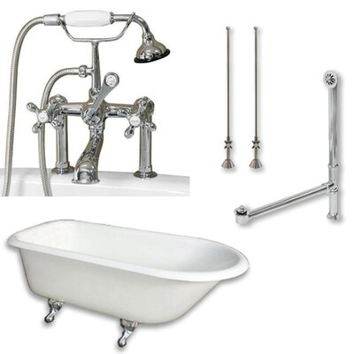 55 x 30 Clawfoot Bathtub Finish: Polished Chrome