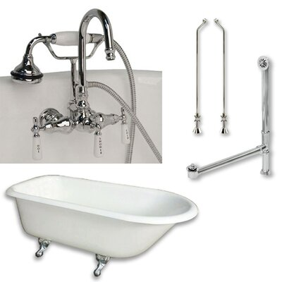 61 x 30 Clawfoot Bathtub Finish: Polished Chrome