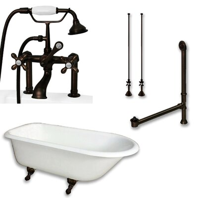 55 x 30 Clawfoot Bathtub Finish: Oil Rubbed Bronze