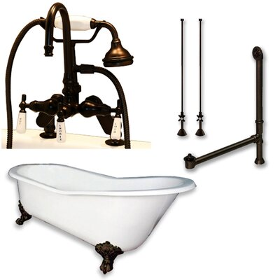 67 x 30 Clawfoot Bathtub Finish: Oil Rubbed Bronze