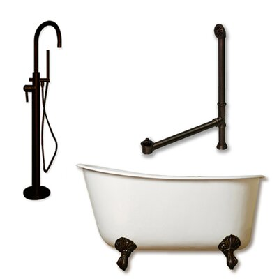 58 x 29 Clawfoot Bathtub Finish: Oil Rubbed Bronze