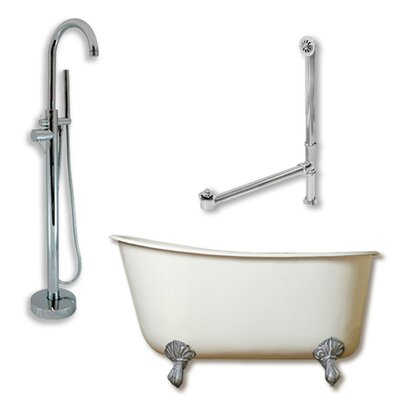 58 x 29 Clawfoot Bathtub Finish: Polished Chrome