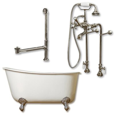54 x 29 Clawfoot Bathtub Finish: Brushed Nickel