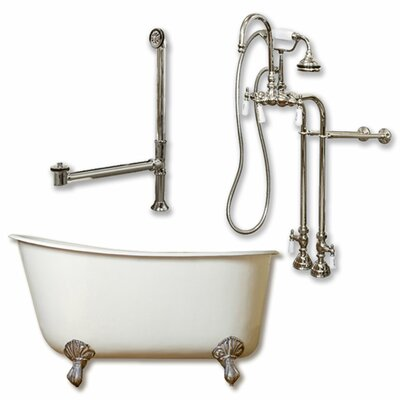 58 x 29 Clawfoot Bathtub Finish: Brushed Nickel