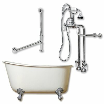 54 x 29 Clawfoot Bathtub Finish: Polished Chrome