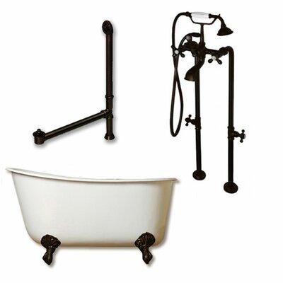 58 x 29 Clawfoot Bathtub Finish: Oil Rubbed Bronze