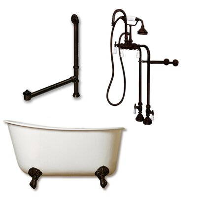 54 x 29 Clawfoot Bathtub Finish: Oil Rubbed Bronze