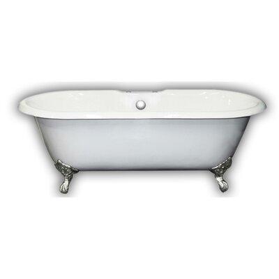 67 x 31 Clawfoot Bathtub Leg Finish: Polished Chrome, Faucet Mount: Yes