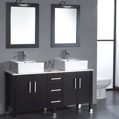 Silkwood 59 Double Bathroom Vanity Set with Mirror