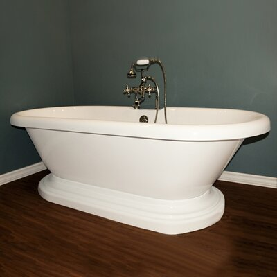 70 x 31 Freestanding Bathtub Faucet Mount: Yes