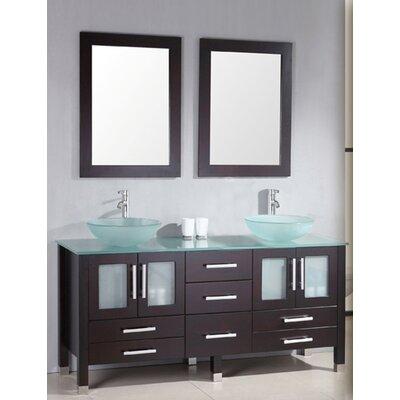 Grand Emerald 71 Double Bathroom Vanity Set with Mirror