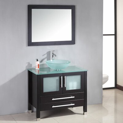 Amethyst 35 Single Bathroom Vanity Set with Mirror