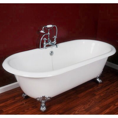 67.25 x 22.25 Double Ended Claw Foot  Bathtub Leg Finish: Polished Chrome, Faucet Mount: Yes