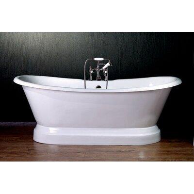 72 x 30 Dual Slipper  Bathtub Faucet Mount: Yes