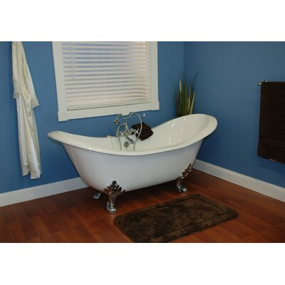 70.75 x 30.5 Claw Foot  Slipper Tub Leg Finish: Polished Chrome, Faucet Mount: Yes