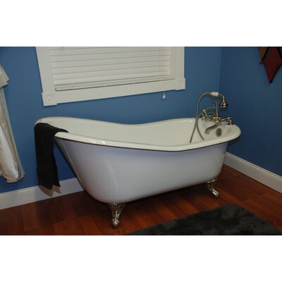 67 x 31 Clawfoot Soaking Bathtub Leg Finish: Oil Rubbed Bronze, Faucet Mount: Yes