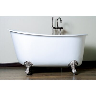 53.5 x 29.5 Claw Foot Slipper Bathtub Leg Finish: Polished Chrome