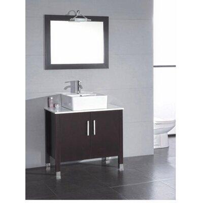 Hickory 36 Single Bathroom Vanity Set with Mirror