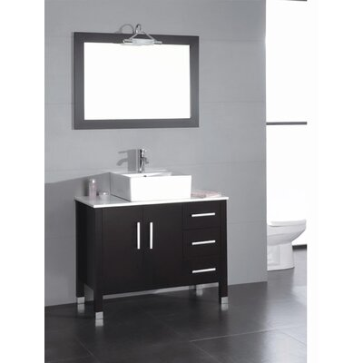 Dogwood 40 Single Bathroom Vanity Set with Mirror