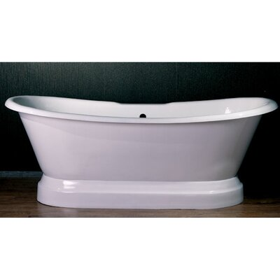72 x 30 Dual Slipper  Bathtub Faucet Mount: No