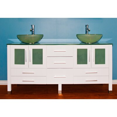 Emerald 71 Double Bathroom Vanity Set with Mirror
