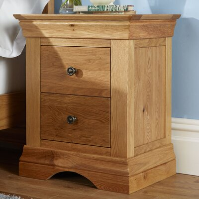 Tatton 2 Drawer Bedside Table