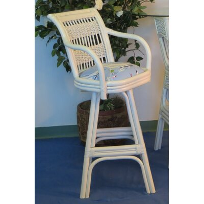 Regatta 30 inch Swivel Bar Stool Upholstery: Set Sail