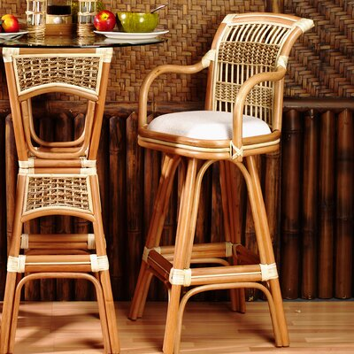 Spice Islands 24 Swivel Bar Stool (Set of 2)