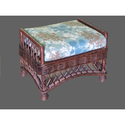 Bar Harbor Ottoman Upholstery: Montfleur Surf, Frame Finish: Whitewash