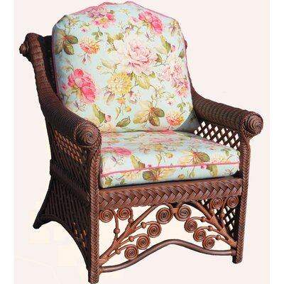 Gazebo Arm Chair Color: Amethyst, Color: Brownwash