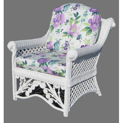 Gazebo Armchair Finish: White, Upholstery: Amethyst
