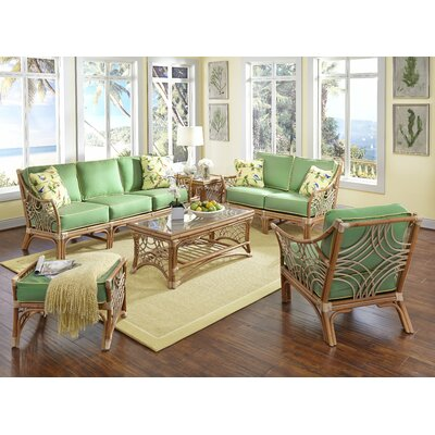 Bali 6 Piece Conversation Set Upholstery: Hickory Lemon