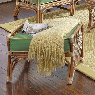 Bali Ottoman Upholstery: Hickory Lemon, Upholstery: Natural
