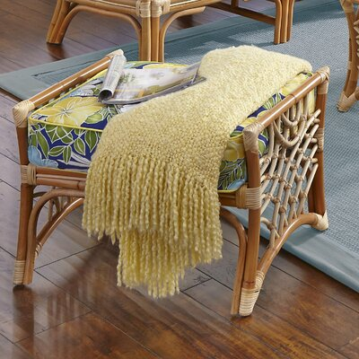 Bali Ottoman Upholstery: Clemens Sunblue Lemon