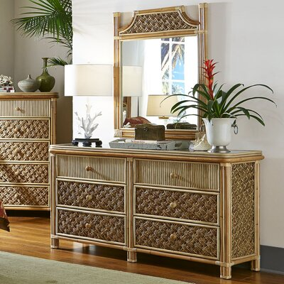 Mandalay 6 Drawer Double Dresser with Mirror